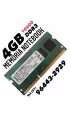 Memórias 4GB DDR3  - Notebooks