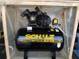 Compressor de Ar CSV 10/100 Pro 10pcm 100L 140 Libras 2HP Schulz