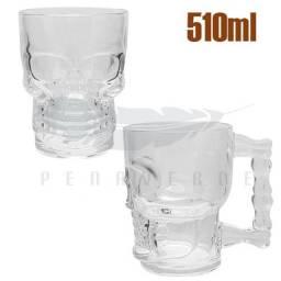 Caneca formato caveira vidro 510ml 6623