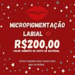 Micropigmentação  labial