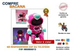 Robô de brinquedo Rosa  Dançando Som/Led
