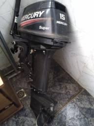 Motor de poupa de Barco  15hp Mercury super