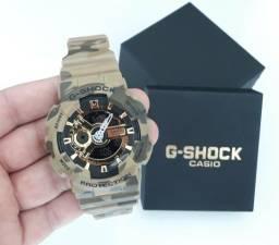 7325cba4d31 Relógio G Shock Casio Camuflado Militar Novo