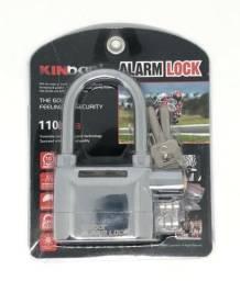 Cadeado De Segurança De Aço Reforçado Com Alarme Sonoro Moto ou Casa Novo na Embalagem