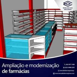 Projeto completo e montagem de farmácias