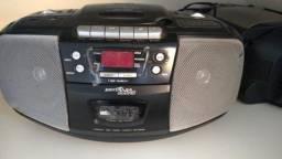Radio + cdplayer + toca-fitas portátil