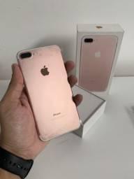 IPhone 7 Plus 32GB Rose, Seminovo na caixa