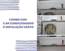 COMBO 5 AR CONDICIONADOS COM INSTALAÇÃO GRÁTIS