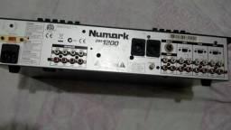 Mixer numark 4 canais com equalizador 12 bandas funcionando tudo