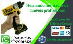 Montador de móveis aceito cartões de Débito e Crédito