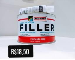 Massa Poliéster Filler Maxi Rubber - 900g