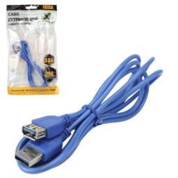 Cabo Extensor USB 3.0 Plugs A Macho x A Fêmea 2 Metros
