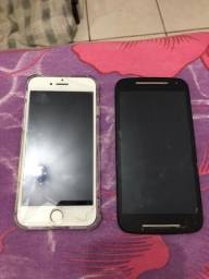 iPhone 7 rose 32 gb moto g2 16 gb