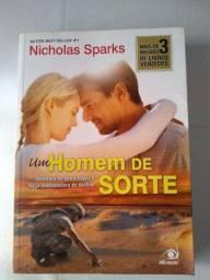 Livro autor Nicholas Sparks - Um homem de sorte