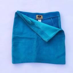 Saia curta azul turquesa camurça/veludo (Thamara Capelão) @brchgrls