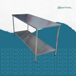 Mesa nova em Inox 2,50mt de comprimento - Preço de fábrica - Portinox