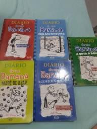 5 livros diário de um banana