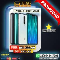 Note 8 Pro 128GB Branco - Promoção - 12x143