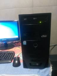 Computador completo HD de 160gb 2gb de memória RAM Windows 8
