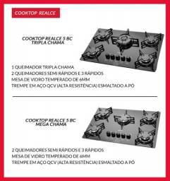 Cooktop realce tripla chama