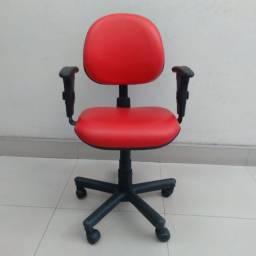 Cadeiras Coloridas Reformadas Seminova Fixa Pés Giratória