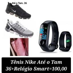 Título do anúncio: Tênis Nike Até o Tam 36 + Relógio Smartwatch = 120,00 <br>