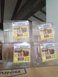 Potes acrilicos 3.3l novos na caixa