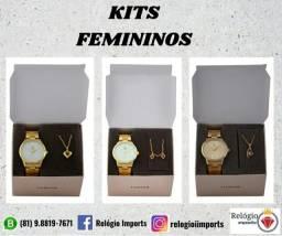 Kits de relógios femininos para dia dos namorados