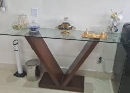 Rack madeira e vidro