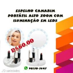 Espelhos camarim portátil alto zoom com iluminação em LEDs