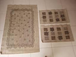 Conjunto de 3 tapetes em sisal