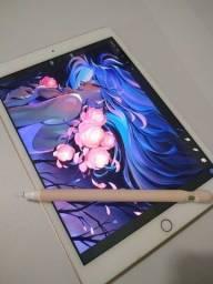Ipad 32GB 7 geração + Apple Pencil 1 Gen