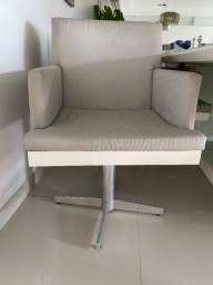 6 cadeiras com base em inox com giro