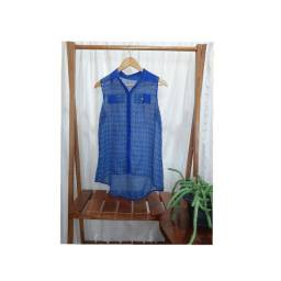 Blusinha azul transparente tamanho P