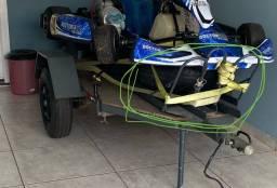 Suporte para moto em carretinha ou caçamba