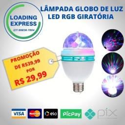 Título do anúncio: Lâmpada Globo De Luz Led Rgb Giratória
