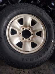 Roda 16 6 furos S10 hyllux etc 250 cada sem pneu