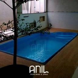 Título do anúncio: TA - Piscina de fibra 4,8 metros - Fabrica Anil piscinas Divinópolis