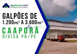 Galpões Beira de Pista, na BR 101- Caaporã (Divisa com PB/PE) de 1.200 m² 2.400 e 3.600 m²