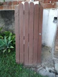 Porteira para sítio de madeira