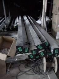 Poste Padrão Light De Aço Galvanizado 6 ou 7,5 mtrs. Parcelamos no Cartão