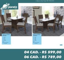 mesa de jantar 6 cadeiras new charm Promoção