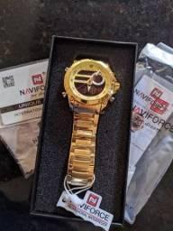 Relógio masculino aço inoxidável