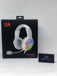 Título do anúncio: Headset Gamer Redragon Pandora 7.1 Branco RGB Novo Lacrado *Pronta Entrega*