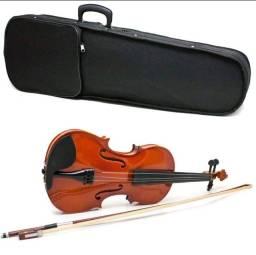 Violino 4/4 Arco Breu Cavalete Acústico Mdf Estojo Luxo
