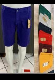 Bermuda jeans colorida do 38 ao 48