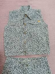 5 peças de roupas infantil menina