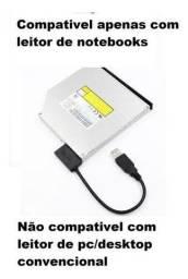 Título do anúncio: Cabo Adaptador Leitor Slimline Sata Laptop Cd / Dvd Rom e de Caddy