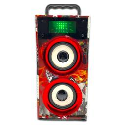 caixa Alto-falante WKS-669B Dual Bluetooth Tower