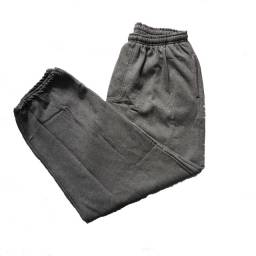 Calça de moletom Plus Size G6 flanelada cinza escuro